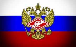Wallpaper Sport, Russia, Coat of arms, Tricolor, Sports society, Logo, Football, Background, Red-white, Rhombus, Club, 1922, ...