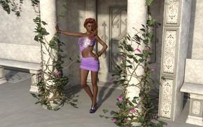 Picture girl, model, heels
