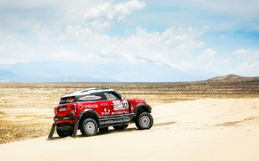 Wallpaper Sand, Red, Mini, Sport, Desert, Speed, Race, Rally, Dakar, Dakar, SUV, Rally, X-Raid Team, MINI ...