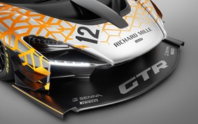 Picture Concept, McLaren, GTR, racing car, 2018, the front part, Senna