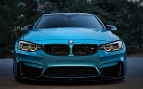 Picture BMW, Blue, Front, Evening, Face, F80