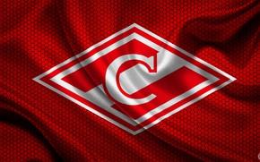 Wallpaper Sport, Russia, Logo, Football, Background, Rhombus, Red-white, 1922, Flag, Football club Spartak Moscow, Logoteam, Spartak ...