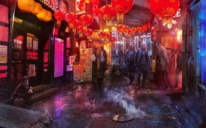 Picture lanterns, Concept art, Inspired by Ghost In The Shell, Shanghai 2020