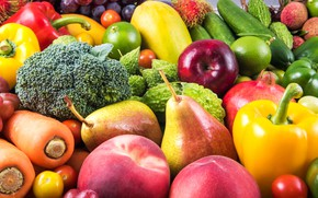 Picture fruit, vegetables, fruits, cuts, vegetables, assorted