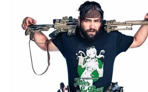 Picture cinema, gun, pistol, weapon, man, movie, tatoo, film, rifle, Range 15, Jarred Taylor