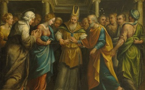 Picture oil, picture, canvas, mythology, The marriage of Mary and Joseph