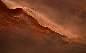 Wallpaper aerial photography, stones, sand, desert, barkhan, the view from the top