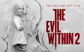 Picture wall, art, girl, The Evil Within 2