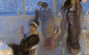 Picture women, picture, genre, On The Terrace, Camillo Innocenti