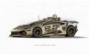 Picture Minimalism, Figure, Lamborghini, Armor, Art, Supercar, Elysium, Lamborghini Huracan, Zombie Apocalypse, Yasid Design, Yasid Oozeear, …