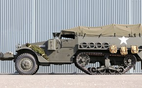Picture 1944, half-track armored personnel carrier, Half Track