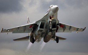 Picture Su-35S, Sukhoi, Videoconferencing Russia, super-maneuverable fighter of the 4++generation, Russian multipurpose