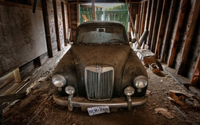 Picture garage, 1957, MG Magnette ZB