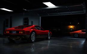 Picture Color, Auto, Lamborghini, Machine, Ferrari, Orange, 1971, Ferrari, Lights, Garage, Car, 365, Boxer, Supercar, Berlinetta, …