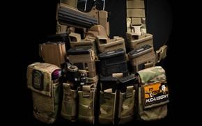 Picture gun, stores, ammunition, clips