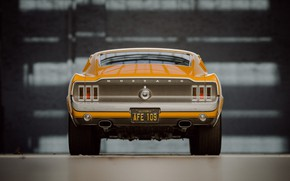 Picture Mustang, Ford, Retro, Machine, Ford, Fastback, 1968, Rendering, Ford Mustang GT, Mustang GT, Orange and …