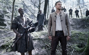 Picture cinema, sword, forest, man, movie, ken, blade, film, king, Charlie Hunnam, Djimon Hounsou, King Arthur: ...