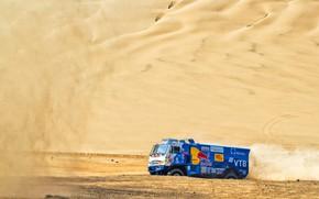 Picture Sand, Auto, Truck, Race, Master, Russia, Kamaz, Rally, Dakar, Dakar, Rally, KAMAZ, The roads, RedBull, …