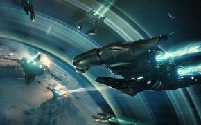 Picture Star Citizen, Banu Merchantman, Space ship, Banu Defender
