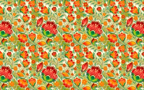 Picture flowers, pattern, the volume