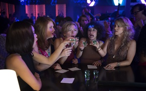 Picture Scarlett Johansson, cinema, girl, woman, bar, movie, brunette, blonde, drink, film, Zoë Kravitz, Kate McKinnon, …