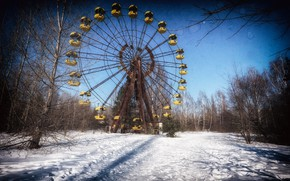 Picture winter, the city, wheel