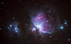 Picture space, stars, Nebula, M42, Orion