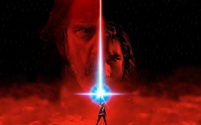 Wallpaper cinema, Star Wars, red, eyes, stars, man, movie, face, film, jedi, Luke Skywalker, Rey, Daisy ...