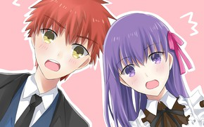 Picture girl, surprise, guy, Fate stay night, Fate / Stay Night