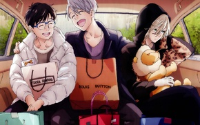 Picture anime, art, guys, Yuri on Ice, Yuri on the ice, Viktor Nikiforov, Yuri Katsuki, Yuri …