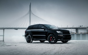 Picture car, machine, auto, car, ice, car, srt, black, Saint Petersburg, cars, auto, jeep, grand cherokee, …