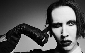 Picture music, image, black and white, Marilyn Manson, Marilyn Manson