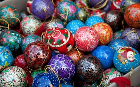 Picture colorful, Christmas, balls, color, New Year, Christmas decorations, Christmas ornaments