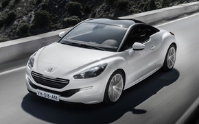 Wallpaper road, coupe, Peugeot, RCZ