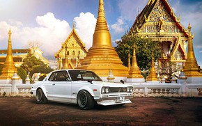 Picture Auto, Machine, Nissan, Day, Temple, 1971, Nissan, Car, 2000, Skyline, Nissan Skyline, 2000GT, Japanese, 2000GT-R, …