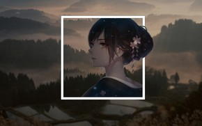 Picture mountains, Anime, anime, geometric shapes, madskillz, madskilz