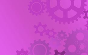 Picture purple, background, texture, gear, purple, stars, lilac, stars, gears, purple, gradient, purple background, scumbria, bright …
