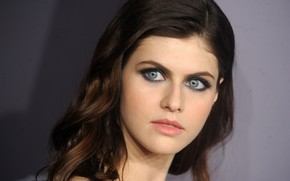 Picture look, actress, blue eyes, Alexandra Daddario