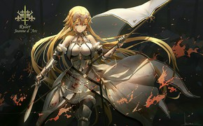 Wallpaper look, girl, art, warrior, armor, Fate/Apocrypha, anime