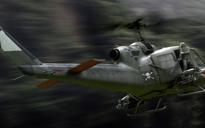 Picture Bell, UH-1, Iroquois, Mohawk, American multi-purpose helicopter
