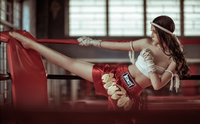 Picture girl, face, style, blow, the ring, legs, East