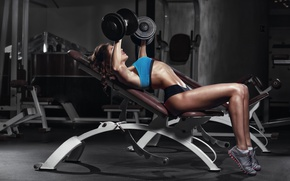 Wallpaper workout, gym, female, fitness