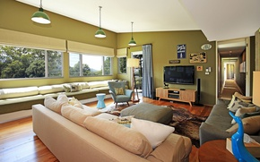Picture style, room, Villa, interior, living room