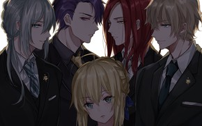 Picture anime, art, guys, characters, the saber, Fate Grand Order
