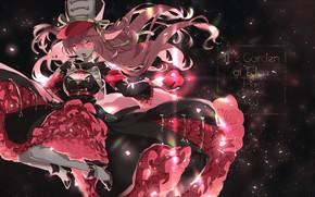 Picture girl, Apple, anime, art