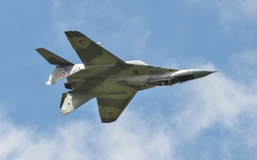Wallpaper The MiG-29, Of the air force of Slovakia, flight, fighter, MiG-29