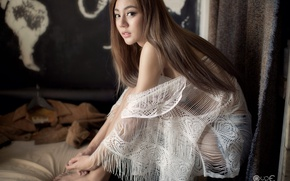 Picture girl, woman, room, asian