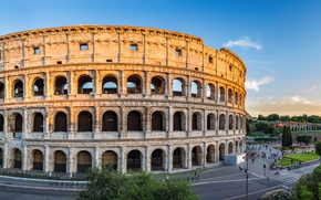 Wallpaper Italy, view, Europe, panorama, Rome, Colosseum, Rome, the city, city, travel, Italy, Colosseum
