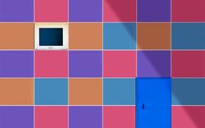 Picture color, wall, the door, window