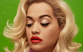 Picture face, model, blonde, singer, Rita Ora, Rita Ora